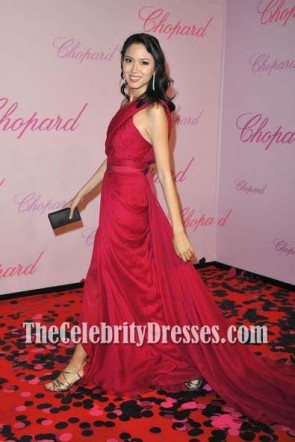 Zhang Zilin Robe rouge formelle Festival de Cannes 2011 tapis rouge
