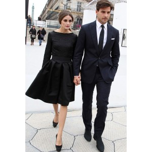 Olivia Palermo Little Black Dress With Long Sleeves