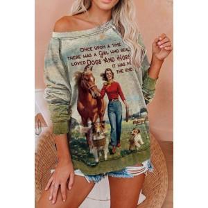 Fashion Classic Printed Sweatshirt