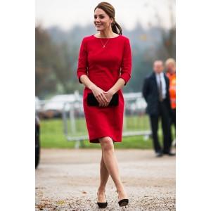 Kate Middleton's Elegant Red Short Party Cocktail Dresses