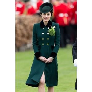 Kate Middleton Dark Green Coat Annual Irish Guards St Patrick's Day Parade