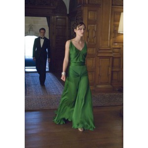 Keira Knightley Green Vintage Evening Dress in Movie Atonement