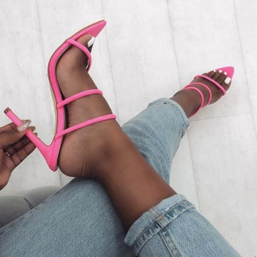 Suede Pointed Toe Stiletto Heels Shoes For Women