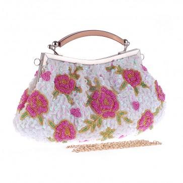 Ladies Classic Evening Bag Party Handmade Retro Purse Girls Beading Handbag TCDBG0122