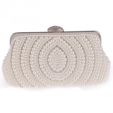 Women Fashion Pearl Evening Bag Elegant Clutch Party Handbag 6