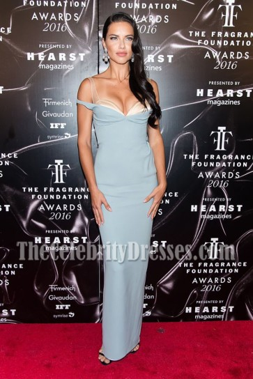 Adriana Lima Off-the-shoulder Backless Evening Prom Gown 2016 Fragrance Foundation Awards 1