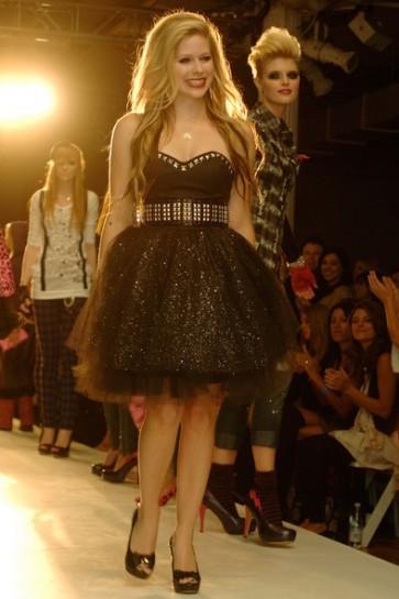 Avril Lavigne Black Glitter Sparkly Short Cocktail Dress