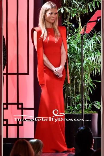 Gwyneth Paltrow Redフォーマルドレス2018プロデューサーギルド賞