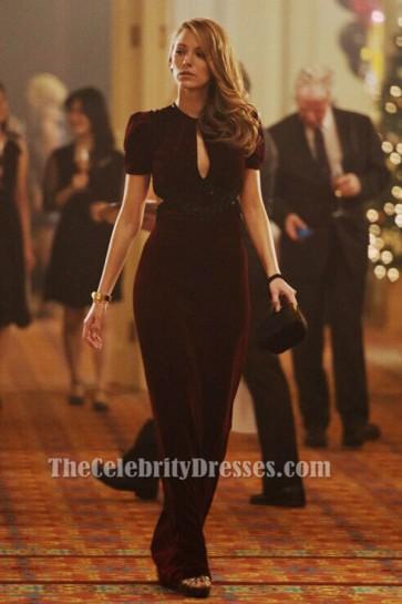 Blake Lively ブルゴーニュのイブニングドレスアダリンファッションの時代