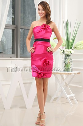 Cheap Fuchsia Short Bridesmaid Cocktail Graduation Dresses
