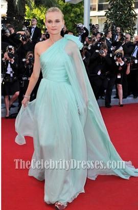 Diane Kruger ダイアンクルーガーワンショルダーフォーマルドレス第65回カンヌ映画祭レッドカーペットドレス