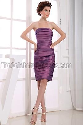 Sheath Column Strapless Party Dress Cocktail Dresses