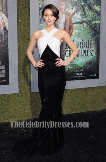 Emmy Rossum エミー・ロッサム プロムのイブニングドレス「美しい生き物」LA初演