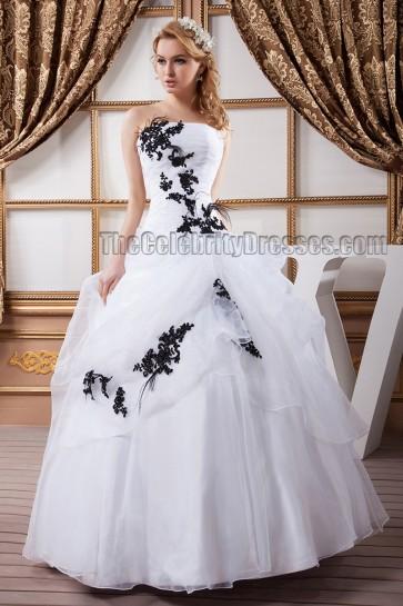 Discount Floor Length Strapless Ball Gown Wedding Dresses