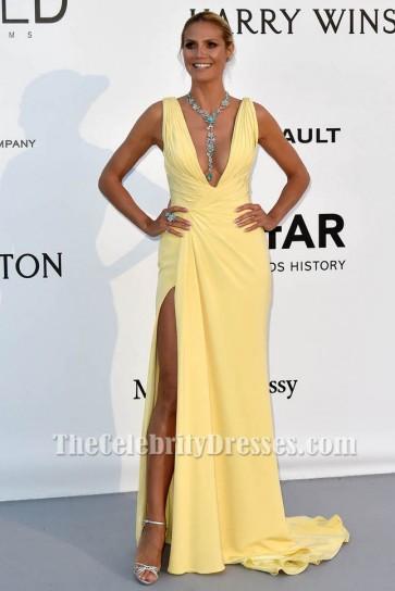 Heidi KlumフォーマルドレスamfARの23番目の映画館に対するAIDS Gala