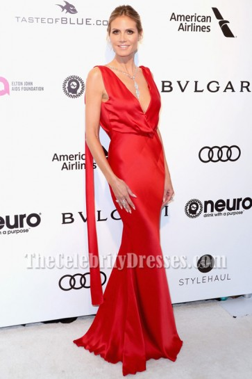 Heidi Klum Evening Dress Elton John AIDS Foundation's Academy Awards 2017 Viewing Party