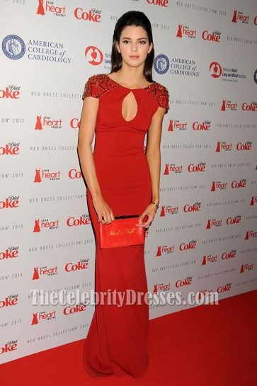Kendall Jenner Red Prom Dresses Heart Truth Fashion show