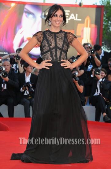 Nadine Labaki ナディーンラバキ ブラックイブニングウエディングドレスヴェネツィア映画祭レッドカーペット
