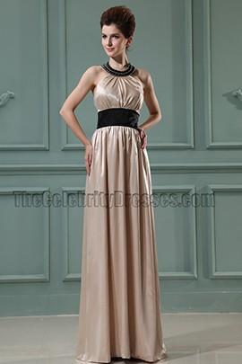 Champagne Halter Prom Dress Evening Formal Dresses