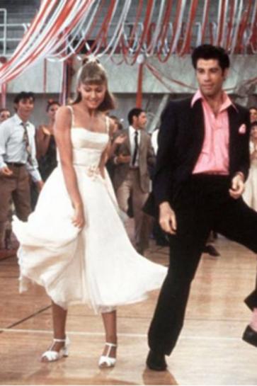 Sandys グリースでダンスからAラインパーティーウエディングドレス