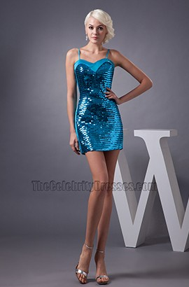 Sexy Blue Sequins Mini Party Homecoming Dresses