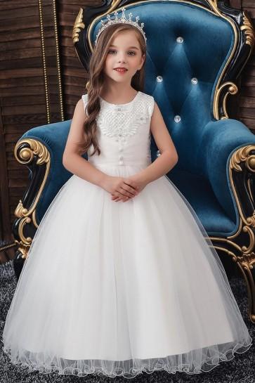 Ball-Gown Sleeveless Flower Girl Dress
