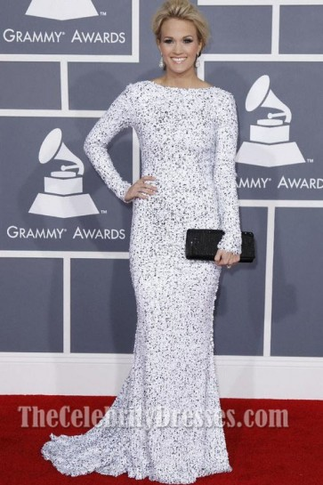 Carrie Underwood Prom Dress Grammy Awards 2012 Red Carpet