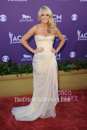Carrie underwood Prom Dress Country Music Awards 2012 Red Carpet