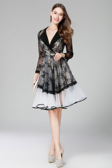 Celebrity Inspired Long Sleeves Party Cocktail Dresses
