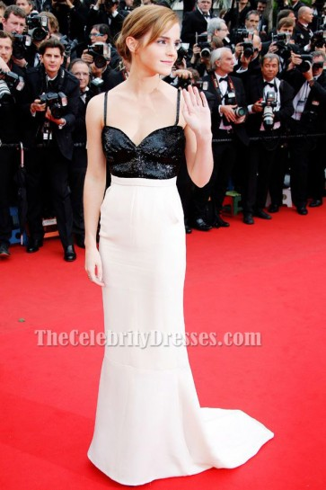 Emma Watson Backless Formal Dress Cannes festival 2013 Red Carpet