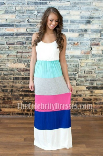 Fight Color Discount Maxi Dress Plus Size Beach Dress 2