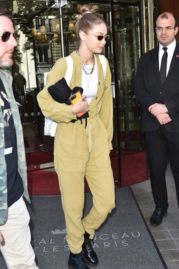 Yellow Celebrity Wide Leg Suit Long Pants For Sale
