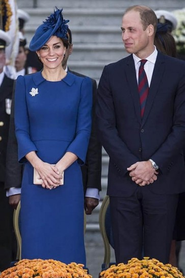 Kate Middleton Blue Long Sleeves Short Party Bodycon Dress Royal Canadian Tour