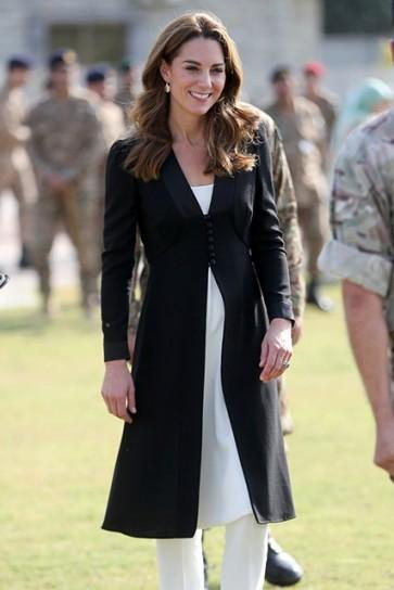 Kate Middleton Blue Coat 2019