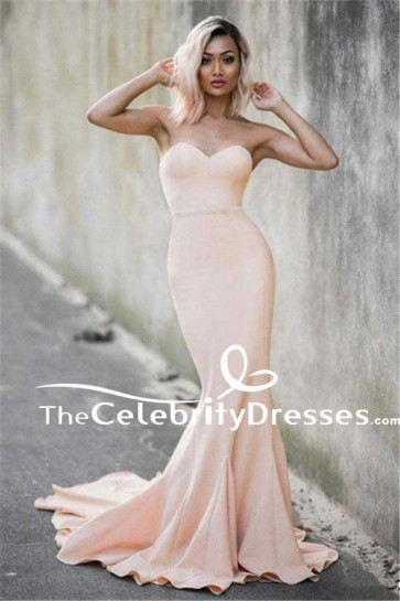 Long Strapless Sweetheart Mermaid Formal Dress Evening Prom Military Gowns TCDFD7529