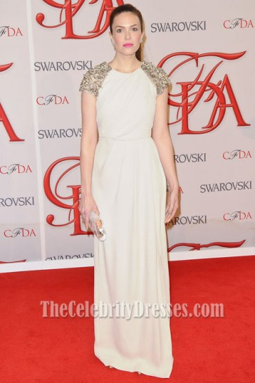 Mandy Moore Ivory Prom Dress 2012 CFDA Fashion Awards Red Carpet