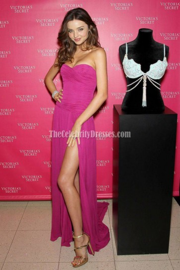 Miranda Kerr Strapless Prom Dress Evening Gown Unveils Victoria's Secret 2011