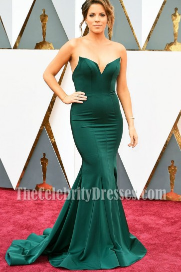 Stephanie Bauer Strapless Mermaid Evening Prom Gown 2016 Academy Awards