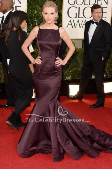 Taylor Swift Backless Mermaid Formal Dress Golden Globe Awards 2013