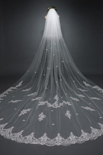 Two-tier Applique Chapel Bridal Veils