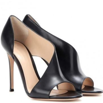 Women's PU Stiletto Heels Peep-toe Sandals For Wedding