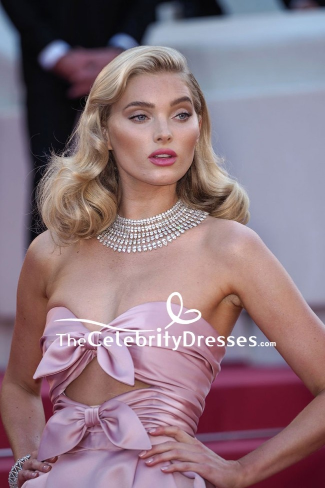 Elsa Hosk Strapless Cut Out Ball Gown 2018 Cannes Film ...