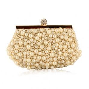 Women's New Handmade Pearl Handbag Ladies Party Evening Purse Bag TCDBG0112