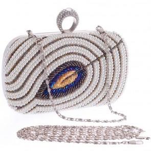 Women Evening Bag Fashion Pearl Clutch Handbag Beading Party Purse 4