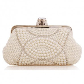 Handmade Pearl Evening Bag Women Fashion Studded Clutch Handbag TCDBG0144