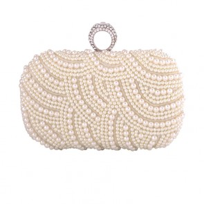 New Pearl Evening Bag Bride Clutch Women Party Mini Handbag  4