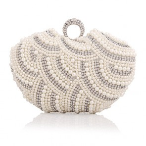 Women Pearl Beading Mini Evening Handbag Girls Party Cocktail Purse Bag TCDBG0116