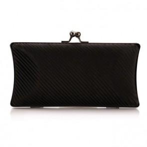Women Fashion Ruffles Silk Satin Bag Evening Handbag Formal Party Purse TCDBG0142