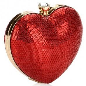 Fashion Ladies Elegant Handbag Sequins Heart-Shaped Evening Bag TCDBG0147