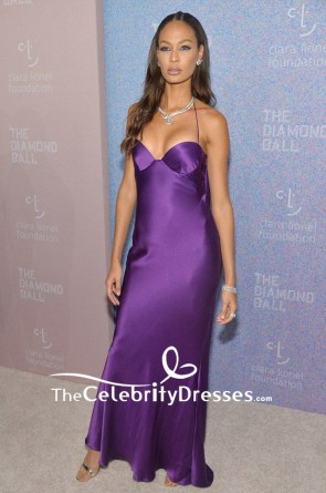 Joan Smalls Spaghetti Straps Halter Regency Evening Dress The Diamond Ball TCD8337